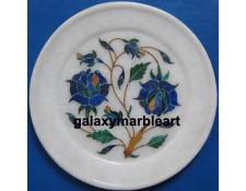 elegant rose flower inlay work plate Pl-515