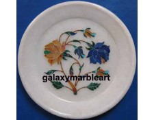 nice floral pattern stones inlay plate Pl-517