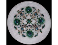 Sangemarmar, Pachchikari plate Pl-718 inlaid with semi-precious stones