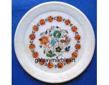 Stones Pietra dura inlay work,gift,handcrafted,Taj Mahal art plate pl-701