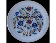 Fine floral inlay work wall decoration gift  marble plate pl-703