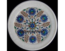 Intricate workmanship marble plate with geometrical design pl-707