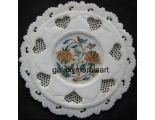 Filgree work with inlay art from Taj Mahal plate pl-709