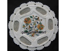 Simple floral design with fine filgree work plate pl-710