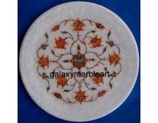 Cornelian stones inlaid, Pietra Dura work,gift plate Pl-715