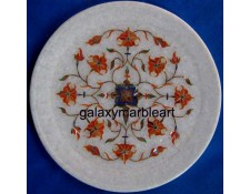 Symmetrical pattern, Cornelian stones inlaid plate Pl-716