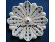 Lotus flower design inlay plate for putting flower petals plate Pl-717