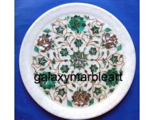 Malachite-Paua Shell combination marble inlay plate Pl-901