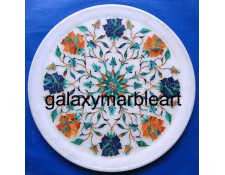 Stones decorative marble plate with inlay work, Pl-904