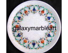 Marble inlay garland design plate Pl-905