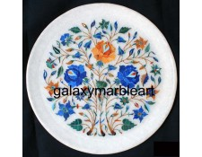 Magnificent design marble inlay plate Pl-906