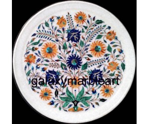 Best claassic design marble inlay plate Pl-1304