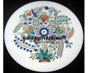 An incredible design marble inlay plate Pl-1350