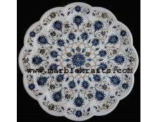 marble inlay pietra dura exquisite plate Pl-1401