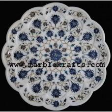 marble inlay pietra dura exquisite plate Pl-1401