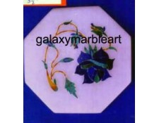 "marble inlay coaster tile oct 3.5"" TP-3540"