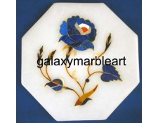 "marble tile with floral inlay pattern oct 4"" TP-401"