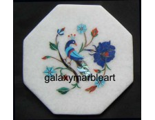 "Agra inlay work marble tile oct  5"" TP-502"