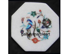 "Stones inlay work marble tile oct  5"" TP-503"