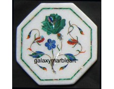 "marble inlay handicraft  tile oct  5"" TP-504"