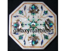 "Agra marble inlay tile oct  5"" TP-507"