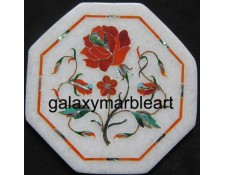 "Stones inlay work marble tile oct  5"" TP-512"