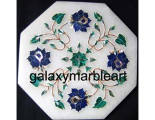 "marble inlay tile oct  7"" TP-705"