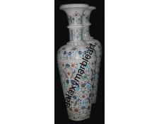 "Taj Mahal inlay work vase ht 48"" V-4801"