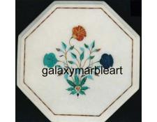 Taj Mahal poppy flower design inlay table top WP-1359