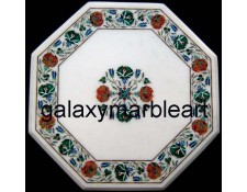 "Elegant design marble inlay table top 20"" WP-2001"