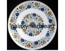 "Fine quality marble inlay table top 20"" WP-2002"