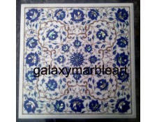 Square inlay work table top with Lapis Lazuli and Paua Shell combination WP-1702