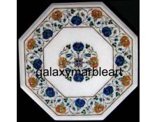 Taj mahal marble inlay work table top  WP-1703