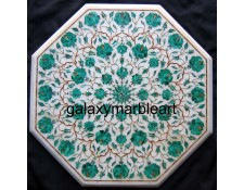 Pietra dura white inlay table top WP-17187