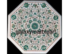 Soft color stones inlaid table top WP-16163