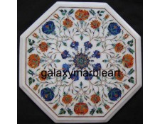 High quality Pietra dura stones inlaid rose flowers table top WP-16215