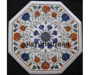 Pietra dura stones inlaid rose flowers table top WP-16215