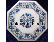Stone pietre dure white table top WP-1801