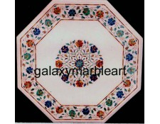 Indian marble inlay table top, WP-1886