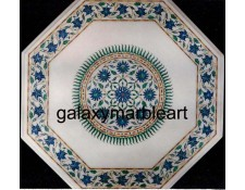 Classical Taj Mahal sunflower design marble inlay table top WP-1891