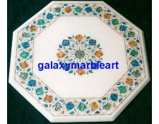 "Marble inlay rose flowers table top 23"" WP-23185"