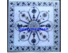 "Square Taj Mahal inlay work table top 36"" WP-36154"