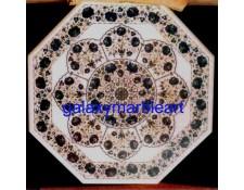 "Decorative stones inlaid table top 36"" WP-3671"