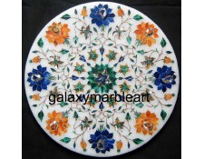 """Multi color side table top-Galaxy Marble Art 12"""" WP-1208"""