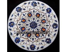 "Side table top with Lapislazuli stone-Galaxy Marble Art 12"" WP-1209"