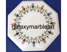 "Taj Mahal Pachikari inlay work table top 12"" WP-12198"