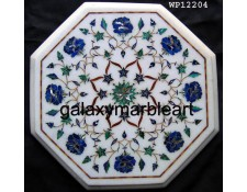 "Agra marble inlay work table top 12"" WP-12204"