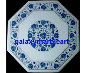 "indian marble inlay table top 26"" WP-26213"
