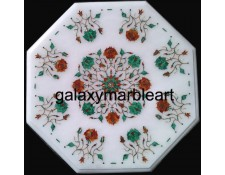 marble inlay table top with Malachite-carnelian combination WP-1503