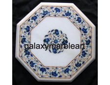marble inlay table top with intricate work   WP-15102